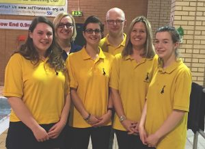 Successful Level 1 Coach candidates - Maddy Peck, Course tutor, Lisa Hindle, John Stirling, Nicola Peart, Katie Sarginson